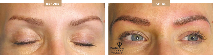 PhiBrows before and after photos